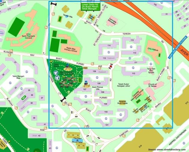 Bukit Purmei Map